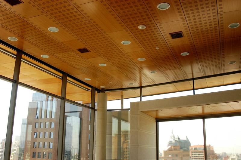 Plaf n natura plafon compuesto por bandejas de madera for Plafones de pared para salon